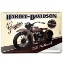 "Carte Postale Métallique Harley Davidson ""750 Flathead"""
