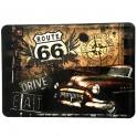 """Carte Postale Métallique Route 66 """"Drive"""""""