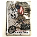 """Carte Postale Métallique Route 66 """"Old Trails Road"""""""