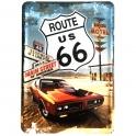 """Carte Postale Métallique Route 66 """"Main Street"""""""