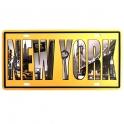 """Plaque Métallique New York """"Monuments"""""""