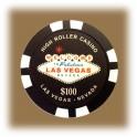 Jeton de casino aimanté Las Vegas $100 noir