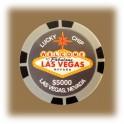 Jeton de casino aimanté Las Vegas $5000 gris
