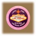 Jeton de casino aimanté Las Vegas $10000 rose