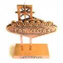 "Bibelot ""Welcome to Fabulous Las Vegas"" métal cuivre"