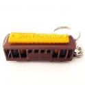 """Porte Clé San Francisco """"Cable Car"""" métal marron et jaune"""