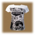 "T-Shirt femme Las Vegas blanc ""Welcome to Fabulous Las Vegas"""