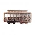 """Magnet San Francisco """"Cable Car"""" métal couleur noir"""