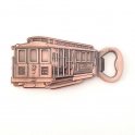 """Magnet Décapsuleur San Francisco """"Cable Car"""" métal couleur cuivre"""