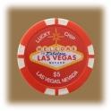 Jeton de casino aimanté Las Vegas $5 rouge