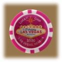 Jeton de casino aimanté Las Vegas $500 fushia