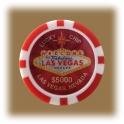 Jeton de casino aimanté Las Vegas $5000 rouge