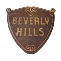 "Plaque Métallique ""Beverly Hills Logo"" Vieillie"