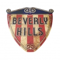 "Plaque Métallique ""Beverly Hills Logo"" Drapeau USA"