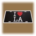 """Plaque Métallique """"I Love L.A"""""""