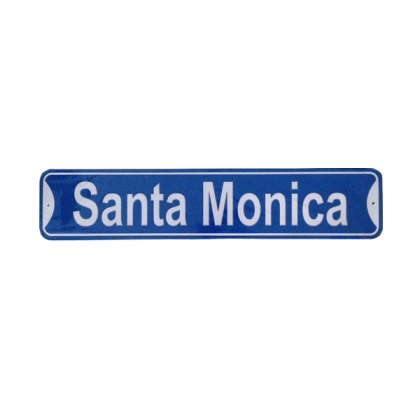 "Plaque Métallique ""61 cms"" Santa Monica"