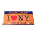 """Plaque Métallique """"I Love NY"""""""