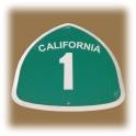"""Plaque Métallique """"Highway 1"""" Pacific Coast Highway"""