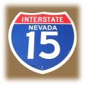 """Plaque Métallique """"Interstate 15"""""""