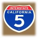 """Plaque Métallique """"Interstate 5"""""""