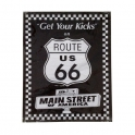 "Grande Plaque Métallique Route 66 ""Get Your Kicks"""