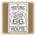 "Petite Plaque Métallique Route 66 ""Historic"""