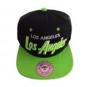Casquette Los Angeles noire et verte
